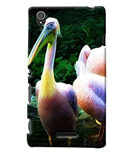 Clarks Swan Inspired Hard Plastic Printed Back Cover/Case For Sony Xperia T3