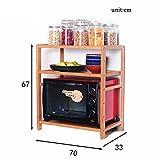 3-Tier-Küche Mikrowellenherd Rack Multifunktions-Spice Cooker Lagerung Regal Bodenständer Arbeitsplatte Ecke (Größe : 70cm)