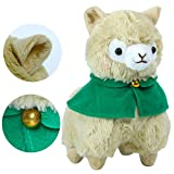 """KOSBON 6 """"alpaca de peluche amarillo con capa, juguete de peluche suave lindo animales, mejores regalos para niños."""