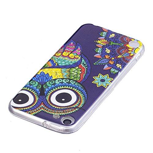 Cover iPod Touch 5 / 6 Generation ,Custodia iPod Touch 5 / 6 Generation,Cozy Hut Ultra Sottile Custodia Nottilucenti Luminoso Gel Silicone per iPod Touch 5 / 6 Generation , Ultra Slim Anti Slip Fluore Gufo a colori