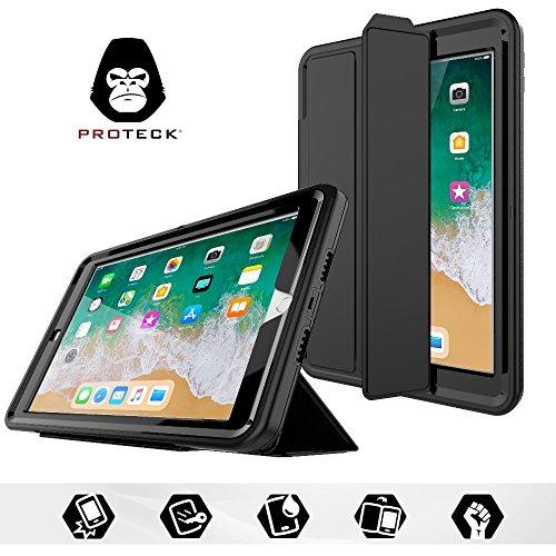 PROTECK Coque iPad Air 2, Etui avec Film de Protection Intégré + Fonction Mise en Veille Automatique + Support/Rabat de Positionnement Housse Antichoc...