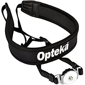 Opteka NS-7 Universal Tripod Mounted Swivel Camera Neck Strap System for Digital Cameras, DSLR's & Camcorders