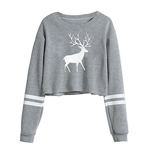 Damen Hoodie Grün rot Schwarz Kapuzenpullover Sport Hoodie Sweatshirts Oversize Oberteil Pullover MYMYG Herbst Frauen Kapuzensweatshirt (B2-Grau,EU:36/CN-M)