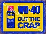 WD-40 vintage garage Pubblicità OLIO Carrozze MOTOCICLETTA parete Capanno Attrezzi Metallo / steel targa - 9 x 6.5 cm (Magnet)