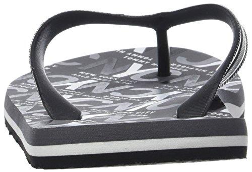 Tommy Hilfiger Herren City Print Beach Sandal Zehentrenner Schwarz (Black 990)