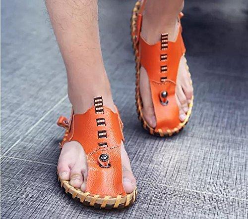 Xing Lin Chaussures DÉté Hommes De Nouveaux Hommes Sandales De Plage À Double Usage De LÉté Chaussures Relaxes Pour Hommes Respirante Chaussons Chaussures Hommes Sandales Hommes Tide HY107 brown