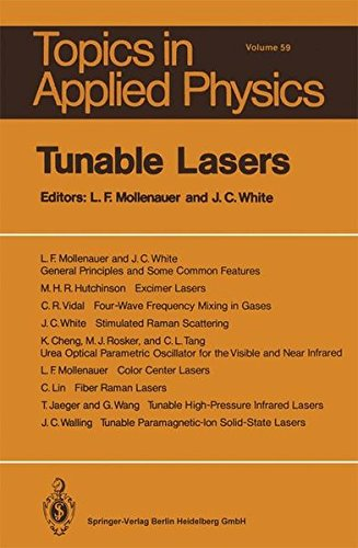 Tunable Lasers (Topics in Applied Physics)