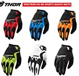 Guanti da motocross THOR Spectrum S15 Adulti Guanti Moto Off Road Quad Scooter Enduro MX Sportivo...