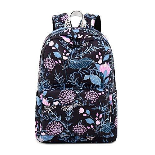 be4a0263f4e18 Acmebon Mochila Escolar Impermeable Elegante para Niña Adolescente  Espaciosa Mochila Monedero para Mujeres Flor