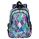 9 verschiedene Muster Rucksack Aoking Backpack Freizeit Sport Reise Outdoor, 38 cm, bunt modern (Muster 1)
