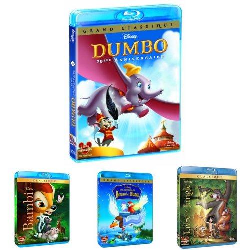 Pack Disney Animaux pour les petits - 4 Blu-ray