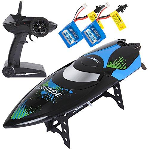SGILE Ferngesteuertes Boot für Pool & Outdoor, RC Rennboot mit Fernbedienung, 2.4 Ghz High Speed RC Boote Racing Boot für Erwachsene & Kinder, Geschenk Schwarz*