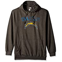 NFL San Diego Chargers Men PULLOVER HOOD W/CREW, GRAY HTHR, 4X