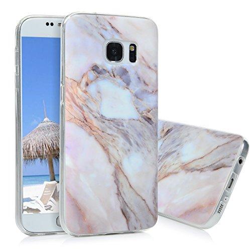 S7 Marmor Hülle, KASOS Marble Handyhülle : Silikon Case Weich TPU Huelle mit IMD Technologie für Samsung Galaxy S7, Jade