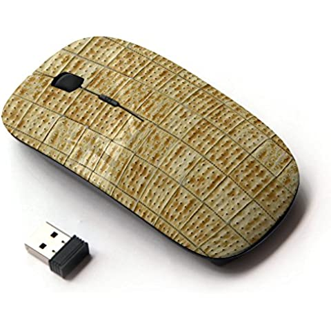 ARTECH [ Mouse Senza Fili Ottico 2.4G ] [ Tile Pattern Cracker Cookie Food ] - Crackers Cookie