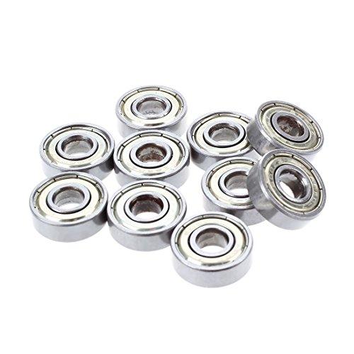 TOOGOO(R) 10 Stk. Kugellager miniatur Rillenkugellager 608 ZZ 8 x 22 x 7mm Bearing Stahl