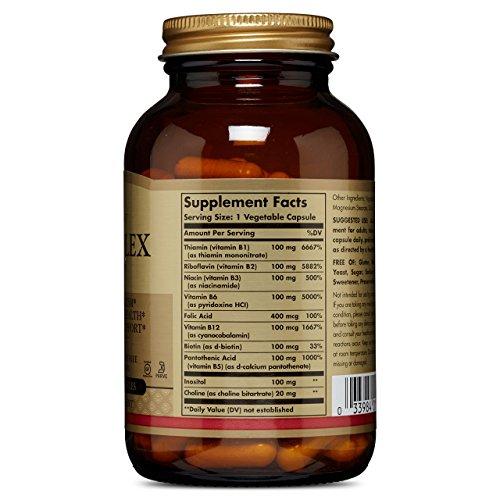 """Solgar Formula Vitamin B-Complex """"100"""" Vegetable Capsules – 100 Vegicaps"""
