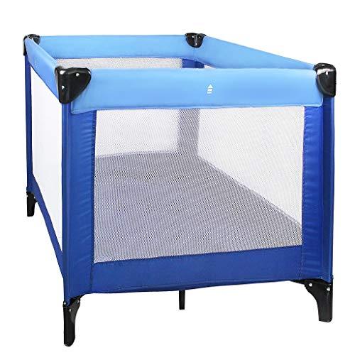 Sotech Reisebett Baby CE-Standard, Babyreisebett tragbar und klappbar, Laufstall Kinder Reisebett 93 x 93 x 76 cm, Blau