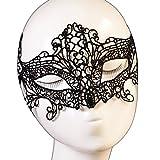 Yazilind forma de mariposa Lolita gótica de la máscara del partido del vestido de lujo Señora Negro Encaje