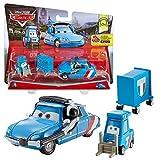 Mattel Doppelpack Modelle Auswahl | Disney Cars | Cast 1:55 Fahrzeuge Auto, Typ:Bruno Motoreau & Raoul Caroule Pitty