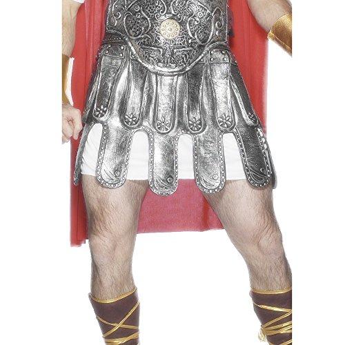 Smiffys, Herren Römischer Rüstungsrock, Latex, One Size, Silber, (Zu Römische Machen Kostüme)