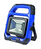 as - Schwabe 46491 CHIP-LED-Strahler 10W mit wechselbarem Akku, IP 54 Baustrahler, für Aussen und Baustelle, W, 230 V, Blau, 10 Watt