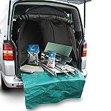achilles Kofferraumschutz für Transporter und Vans, Schutz vor Autoinnenraum mit Ladekantenschutz bzw. Stoßstangenschutz, 240 cm x 125cm x 130cm