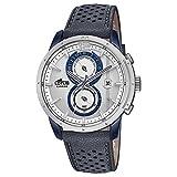 Lotus Montre Homme Chronographe Montre Quartz Khrono Bracelet en Cuir bleu UL18367/1