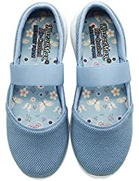 KazarMax Women's and Girl's Dark Grey Air Cooled Memory Foam Latest Collection,Comfortable Ballet Flat's Ballerinas/Bellies (Made in India)