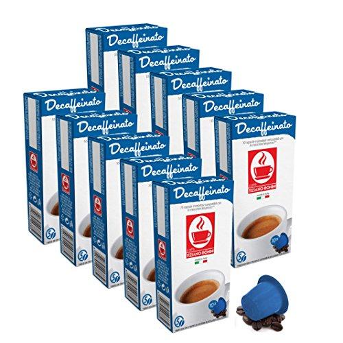 100 Nespresso kompatible koffeinfreie Kapseln von Bonini, Decaffeinato - Nespresso kompatibel -...