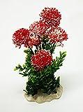 takestop® PIANTE CON fiori COLORATI ALTE 25 CM ARTIFICIALI FINTE ORNAMENTO PER ACQUARIO DECORAZIONI ARREDO colore casuale