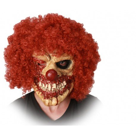 Horror Clown Maske (mit Haaren)