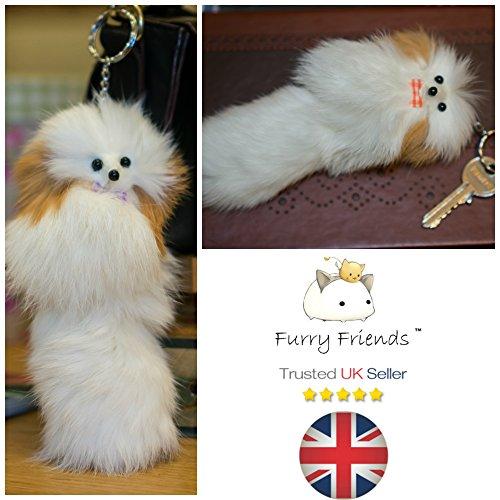 Furry Friends - Portachiavi, White Dog