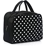 Kinghard Portable Entrancing Multifunction Travel Cosmetic Bag Makeup Toiletry Case Pouch (Black)