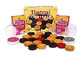 #6: A-One Traders ( Natraj Wood Quality) 24 Carrom Coins & 2 Carrom Striker & 2 Powder (Combo Pack)