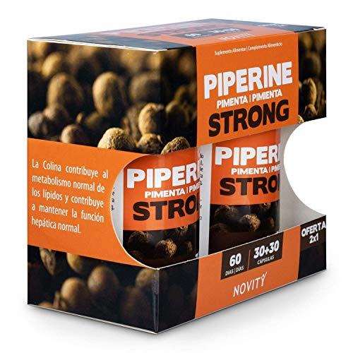 Piperine Forte (minceur avec Guarana - Choline - Poivre noir) | Aide à maigrir | Brule graisse |...