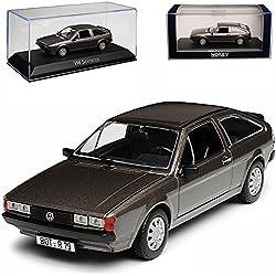 alles-meine GmbH VW Volkswagen Scirocco II GT Coupe Grau Metallic 1981-1992 1/43 Norev Modell Auto mit individiuellem Wunschkennzeichen