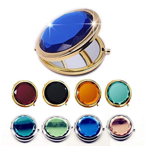 LDCP 4PCS Espejo de Maquillaje de Cristal Espejos compactos Plegables Redondos portátiles...