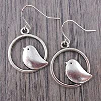 Prime Day £30% off Minimal Bird Earrings in Silver tone