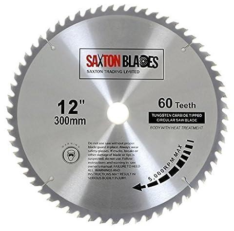 Saxton TCT Circular Wood Saw Blade 300mm x 30mm 60T for Bosch, Makita etc