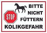 HB_Druck Pferde Bitte Nicht füttern Kolikgefahr Schild A4 (210x297mm)