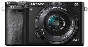 Sony Alpha 6000L Fotocamera Digitale Compatta, Obiettivo Intercambiabile, Sensore APS-C CMOS Exmor HD da 24.3 MP, Obiettivo da 16-50 mm, Nero