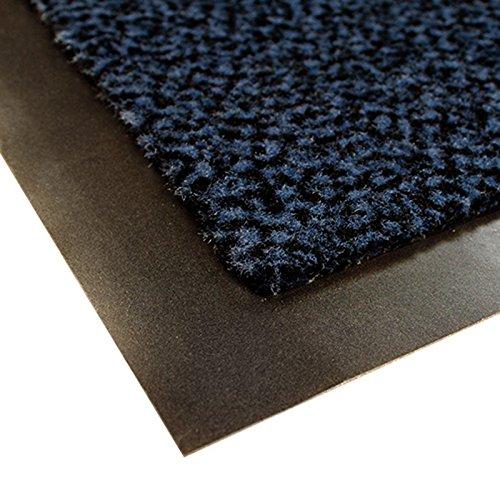 casa pura® Premium Fußmatte für Eingangsbereiche | Schmutzfangmatte in 6 Größen | blau - schwarz | 40x60cm