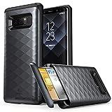 Coque pour Galaxy Note 8, Clayco [Série Argos] Étui portefeuille de Premium protection hybride pour Samsung Galaxy Note 8 (fente pour carte de crédit/d'identité intégrée) (Noir)