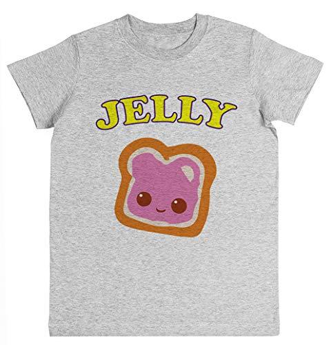 Couple - Peanut Butter & Jelly Unisex Kinder Jungen Mädchen T-Shirt Grau Größe L Unisex Kids Boys Girls's T-Shirt Grey Size L