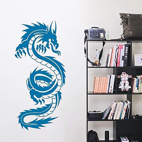 Drachen Vinyl Kunst Wandaufkleber Poster Wohnzimmer Dekoration Schlafzimmer Aufkleber Chinese Dragon Decor ~ 1 42 * 90 cm -