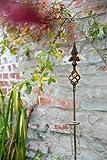 Regenmesser Lilja Höhe 124cm Schmiedeeisen Rost auch als Rankstab