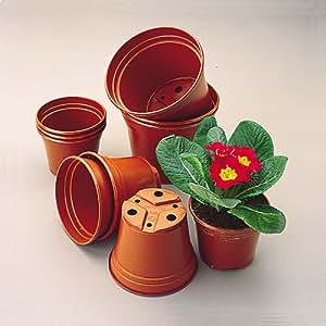 Lot de 100 pots pour plantations en plastique 8 cm