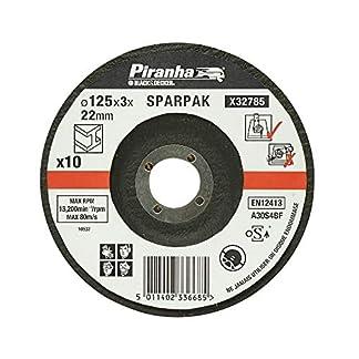 Black+Decker X32785-QZ – 10 discos de corte para metal 125 mm