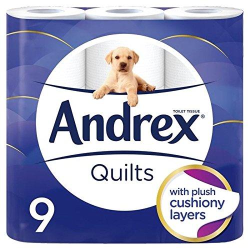 Preisvergleich Produktbild Andrex Quilts Zartheit Toilettenpapier Gepolstert 9 Pro Packung